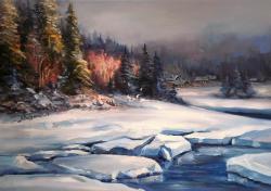 Picturi de iarna DEPARTARI ALBASTRE