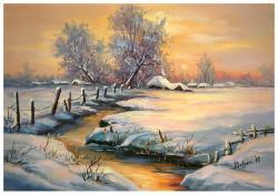 Picturi de iarna IARNA AURIE