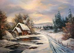 Picturi de iarna IARNA BUNICILOR