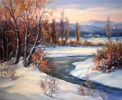 Picturi de iarna IARNA IN AMIAZA