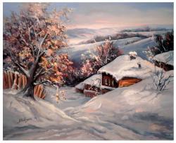 Picturi de iarna IARNA IN SAT