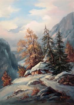 Picturi de iarna IARNA PE CULMI