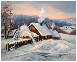 Picturi de iarna IARNA PE  SAT