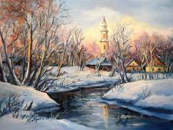 Picturi de iarna IARNA PESTE SAT