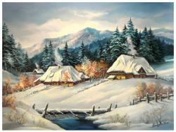 Picturi de iarna IARNA TIROLEZA