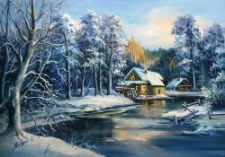 Picturi de iarna IN OGLINDA IERNII