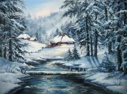 Picturi de iarna IN PADUREA DE CLESTAR