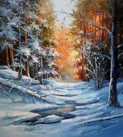 Picturi de iarna IN PADUREA IENII