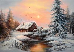 Picturi de iarna LA MOARA IERNII