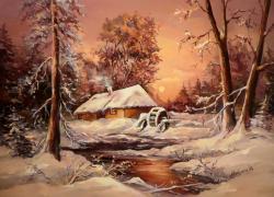 Picturi de iarna LA MOARA INGHETATA