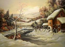 Picturi de iarna LA MOARA PARASITA