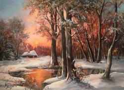 Picturi de iarna O IARNA IN AMURG