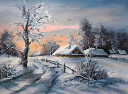 Picturi de iarna O LUME TACUTA