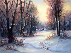 Picturi de iarna PADURE INSORITA