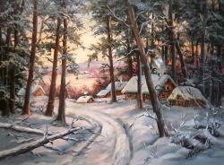 Picturi de iarna PADURE VISCOLITA