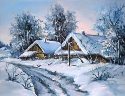 Picturi de iarna POTECI CU IARNA