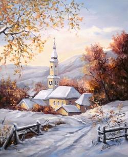 Picturi de iarna PRIMELE ZAPEZI