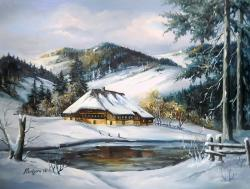 Picturi de iarna SUB ARIPA IERNII