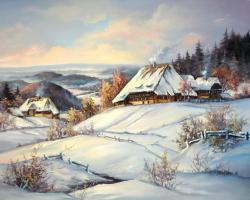 Picturi de iarna TARIMUL IERNII