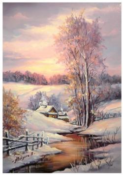 Picturi de iarna UN PASTEL NINS