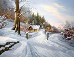 Picturi de iarna VRAJA DIMINETII