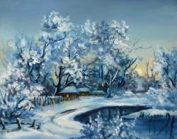 Picturi de iarna ZAPADA ALBASTRA