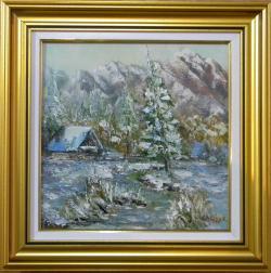 Picturi de iarna ALBUL MUNTILOR