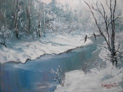 Picturi de iarna Iarna pe rau