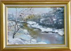 Picturi de iarna IARNA PE RAU 2