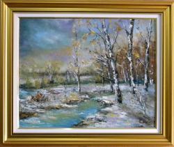 Picturi de iarna MESTECENI DE IARNA