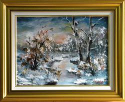 Picturi de iarna NOAPTE DE IARNA GEROASA