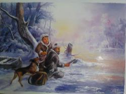 Picturi de iarna pescar la copca