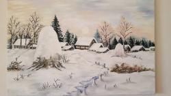 Picturi de iarna Peisaj de iarna!