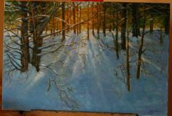 Picturi de iarna Prima lumina a iernii