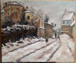 Picturi de iarna Prima zapada in mahala