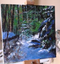 Picturi de iarna Prima zapada in padure