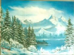 Picturi de iarna Albastru hibernal