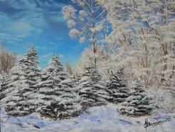 Picturi de iarna La joaca