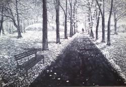 Picturi de iarna Pasi in singuratate
