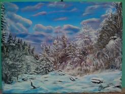 Picturi de iarna Pietrele lui solomon brasov