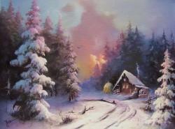 Picturi de iarna Asfintit de soare iarna