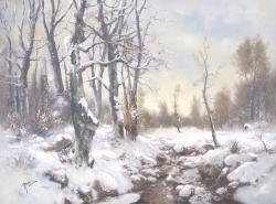 Picturi de iarna Iarna la vanatoare