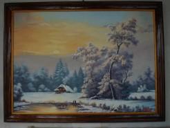 Picturi de iarna Peisaj de iarna 201