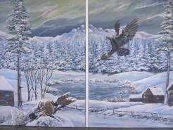 Picturi de iarna La cabana2