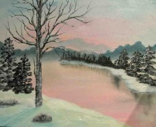 Picturi de iarna Ireala iarna