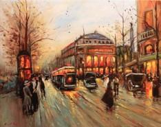Picturi de iarna Citadina 1a