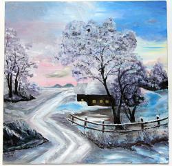 Picturi de iarna Peisaj de iarna 003