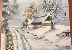 Picturi de iarna Peisaj de iarna 005