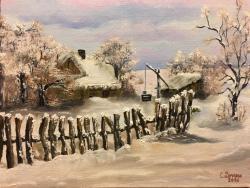 Picturi de iarna Peisaj de iarna 006