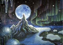 Picturi de iarna Aurora borealis